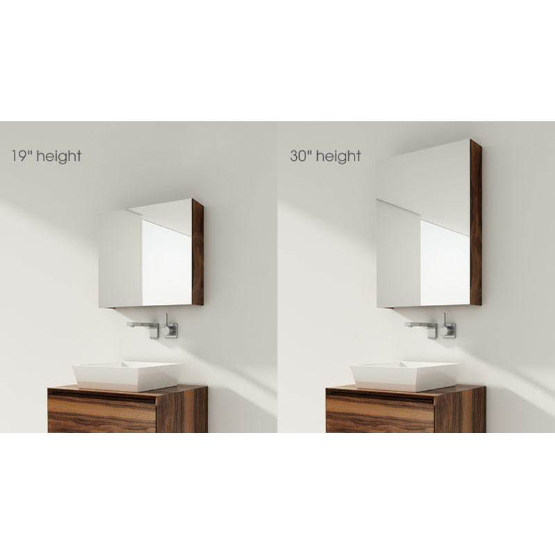 Wet Style FURNITURE ''M'' - MIRRORED CABINET 58 X 19-1/8 HEIGHT - LED OPTION - WALNUT NATURAL