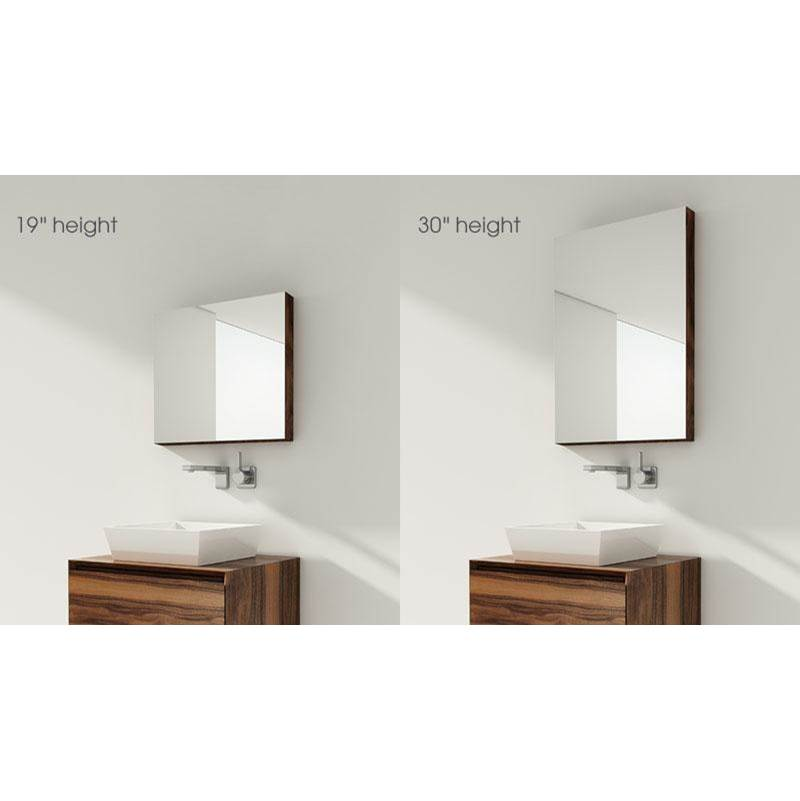 Wet Style FURNITURE ''M'' - RECESSED MIRRORED CABINET 40 X 19-1/8 HEIGHT - WALNUT NATURAL