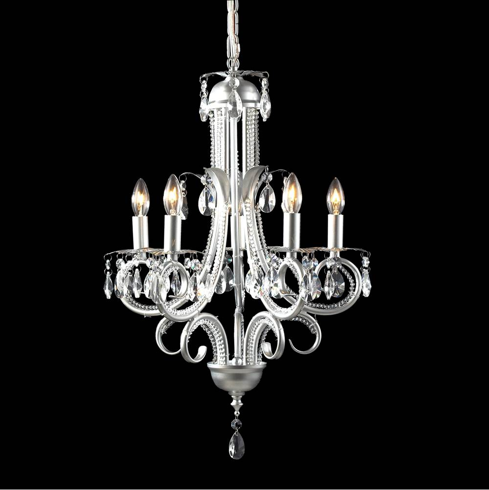 Z-Lite 5 Light Crystal Chandelier